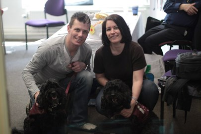 With Smudge's sister - Scotch, & Rob