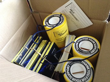 Collection tins arrived today from Help Musicians! Donations can be made here or at the gig!