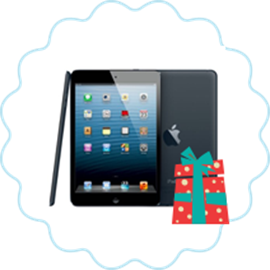 1 iPad Mini - 16GB, Wi-Fi, Black