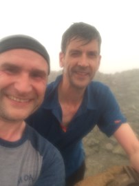 Top of Scafell Pike, shorty after 5am