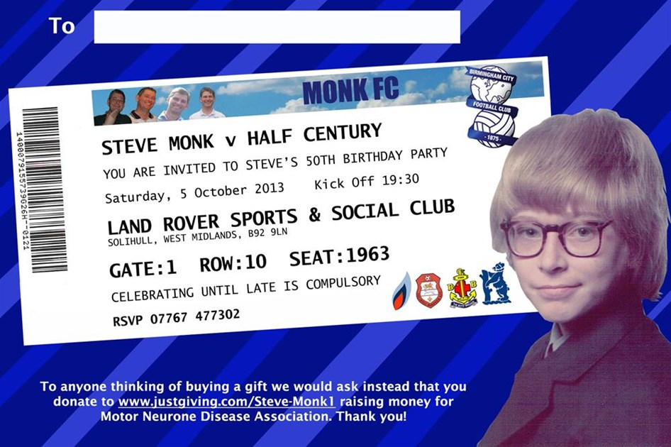 Steve Monk Is Fundraising For Motor Neurone Disease