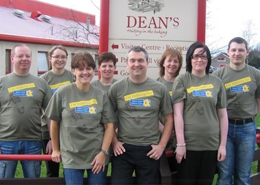 Dean's Activ8 in our challenge t-shirts