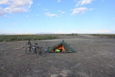 Camping at Kelton (ghost town) in Utah