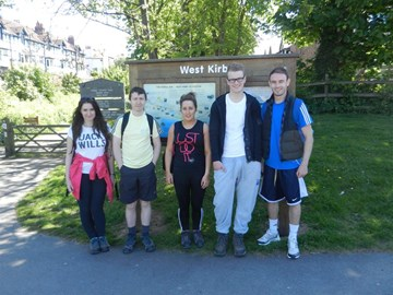 Wirral Way practice hike - halfway point