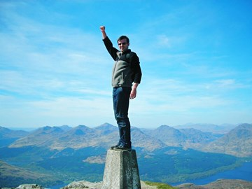 Alan at the top of Ben Lomond