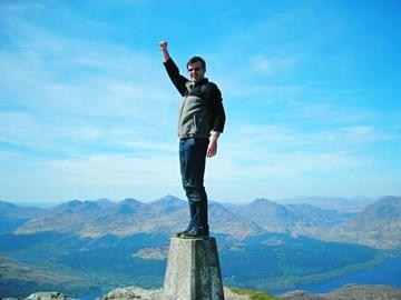 Alan at the top of Ben Lomond