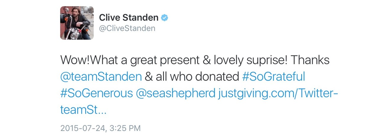 Team Standen Is Fundraising For Sea Shepherd UK