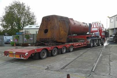 Boiler on low loader