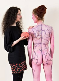 Artist Stephanie Power and model brains