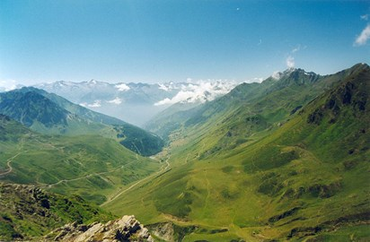 A fine view from the Col du Tourmalet