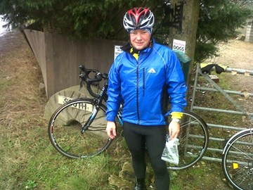 Jonathan on his 70 mile ride