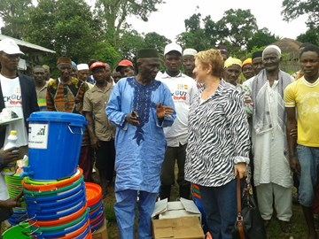 Delivery of handwash stations to BKM Chiefdom