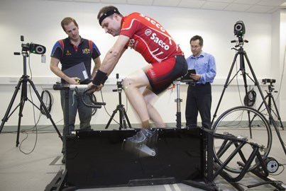 Sports scientists check my biomechanics