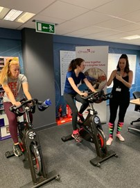 And we are off on our cycle challenge!