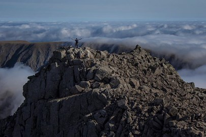 View of cloud inversion from Ben Nevis