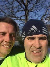 Day 40 of the challenge- running with Brett Garrard (hockey Olympian)