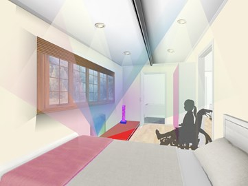Artist's impression of Mim's new accessible bedroom