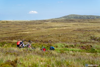The bikes on tour in the Outer Hebrides