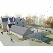 Artists impression of the new entrance and extension