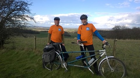 The 'Cycling Satsumas' en route to Portsmouth. 140 miles in two days
