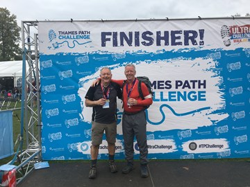 JdV and Mark Spash - another year trying to go sub 24 hours but just getting older and slower .....