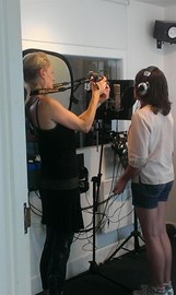 Filming the documentary Mi and Tilda