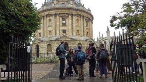0 miles: Radcliffe Square, Oxford