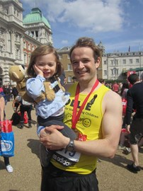 With Ava, post-race