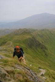Trekking Crib Goch in Snowdonia