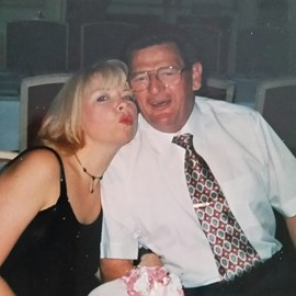 My dad and me before his illness