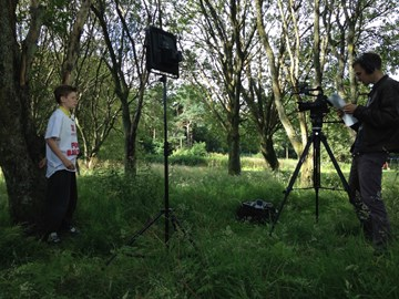 Filming for the #JGAwards in the local park