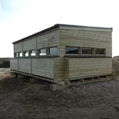 New fully disabled access birdwatching hide.