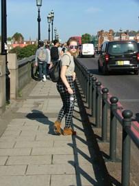 Katie on last years walk