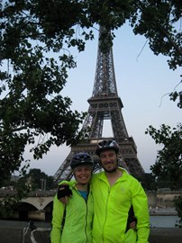At the end of our cycle ride from Bristol to Paris