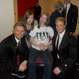Rachel met Westlife March 2011