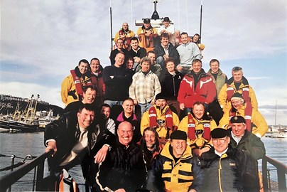 A little photo of Steve with the Torbay Lifeboat crew - thanks to Steve's family for this pic