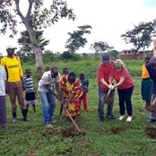 Ground breaking for the Nursery Block at Kahara