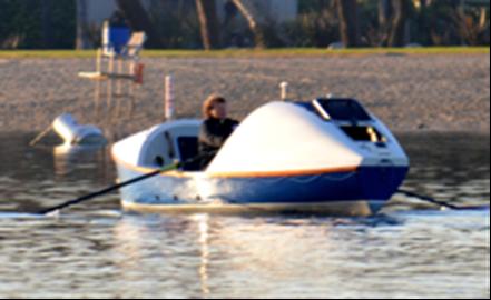Angela & rowing boat 'Spirit of Orlando'