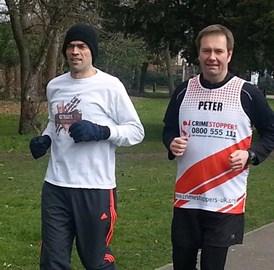 Training run with local MP Tom Brake