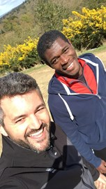 Marcos, our trainer with Marlon at the Punchbowl