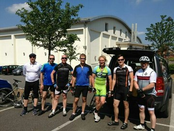 Just some of the team after a 30 mile training ride/get together