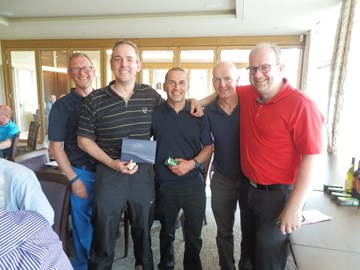 2016 Winners - with their tickets to The Open