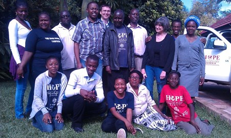 Some of the HOPE team in Zambia