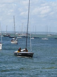 Coming into Cowes after the race