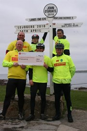 The mile munchers at John 'O Groats