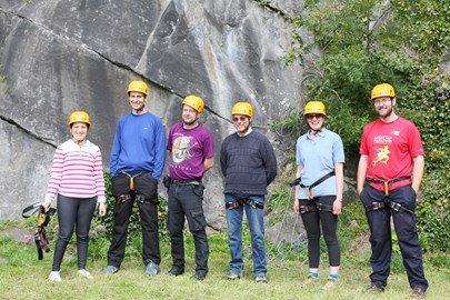 group photo of some of the abseilers