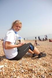Me after completing Brighton Marathon