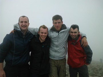 at the top of scafell pike