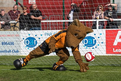 Wolfie supports 'Beat the Goalie' in 2015
