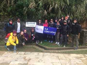 Here we go! The start of our hike for Saigon Children's Charity.